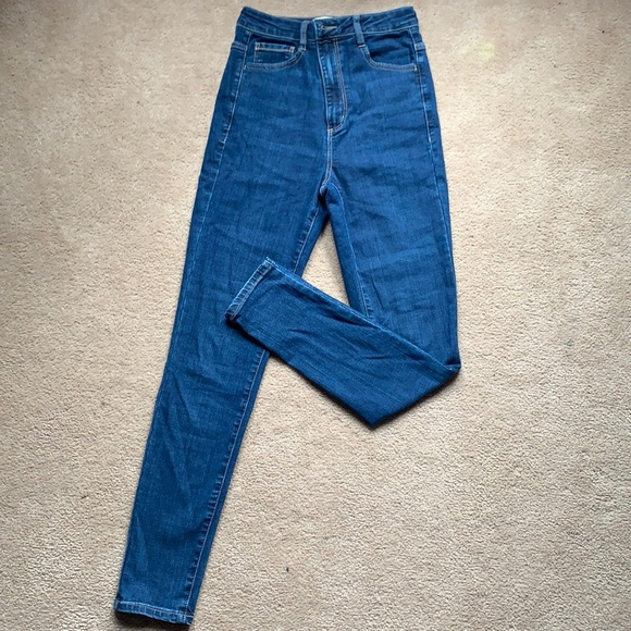 Garage Dark Blue High Rise Jeans